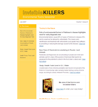 Invisible Killers Environmental Toxins Newsletter